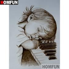 "<b>HOMFUN 5D DIY Diamond</b> Painting Full Square/Round Drill ""Piano ..."