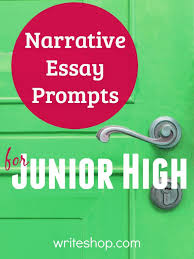 narrative essay prompts for junior high writeshop build middle school writing skills fun narrative essay prompts