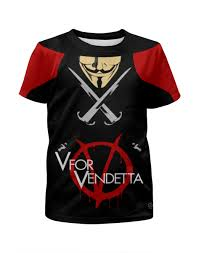 Футболка с полной запечаткой для мальчиков V for Vendetta ...