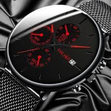 Men's Fashion Watch Stainless Steel Mesh Belt Calendar ... - Vova