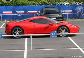 photo of Edinson Cavani La Ferrari 458 - car