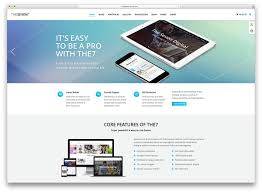 40 awesome flat design wordpress themes 2017 colorlib the7 creative flat design multipurpose theme