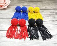 Discount Long Red Earrings | Long Red <b>Feather</b> Earrings 2020 on ...
