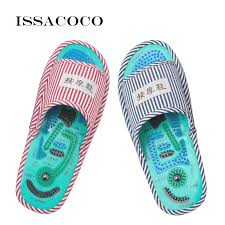 <b>ISSACOCO New</b> Home Slippers Acupoint Massage Slippers Foot ...