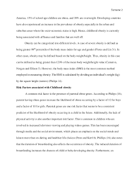 Essay on Childhood Obesity  Essay Sample  SlideShare
