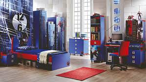cheap kids bedroom ideas: bedroom blue color of bookshelving also wardrobe and dresser also bedstead also red mat in cool bedrooms for guys with wooden flooring designing