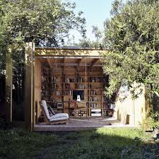 tucked behind a house in hackney east london this low budget garden office space was designed for just one person and is hidden behind a pair of best garden office
