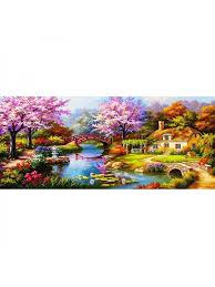 Topumt 5D <b>Diamond Painting Embroidery Landscape</b> Cottage ...