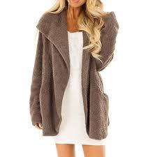 Petalum Women <b>Girl Warm</b> Cardigan Coat Fluffy <b>Faux</b> Fur Winter ...