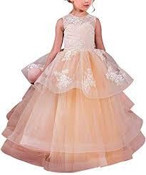 MuchXi Champagne Flower Girl Dress Kids First ... - Amazon.com