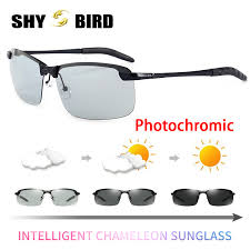 2018 <b>Photochromic Sunglasses</b> Chameleon <b>HD Polarized</b> Men ...