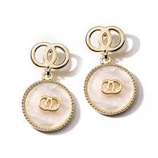 Buy Double <b>Circle</b> 14K Gold Plated <b>S925</b> Sterling Silver Stud Post ...