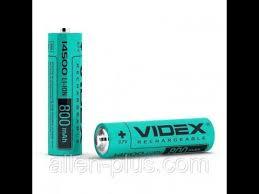 <b>Аккумулятор Videx</b> Li-Ion <b>14500</b> 3,7V 800mAh - YouTube