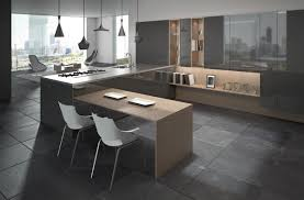 Slate Flooring For Kitchen White Dining Chair Dark Tile Floor Retro Chair Open Storage