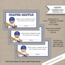 sports diaper raffle la dodgers baseball baby shower diaper raffle tickets 3 skin tones boy baby shower games instant print your own baby shower games