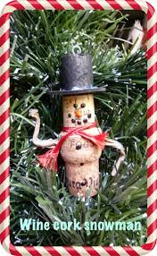 household dining table set christmas snowman knife: make it easy crafts wine and champagne cork snowman ornament