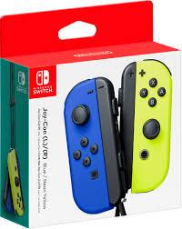 (L/R) Wireless Controllers for Nintendo Switch - <b>Blue</b>/Neon <b>Yellow</b>