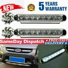 <b>2pcs Wind</b> Power 8 LED Car Daytime <b>Running</b> Light <b>Fog</b> Lamp Car ...