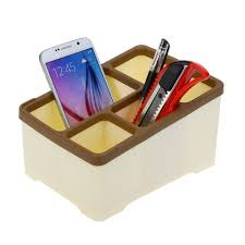 beige fashion office home use square storage box drawers plastic pen key phone container holder boxes cheap office drawers