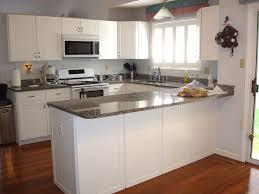 wood kitchen white island