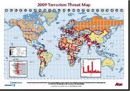 Resultado de imagen de mapas de terrorismo internacional