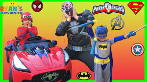 top costumes for kids superheroes power wheels spiderman batman superman iron man ryan toysreview youtube batman superman iron man