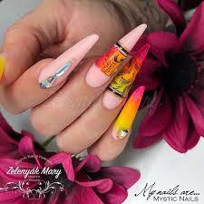 Lacoste shape Neon <b>nails</b> Lacoste körömforma Neon köröm ...