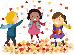 Image result for kids walking in the fall clipart