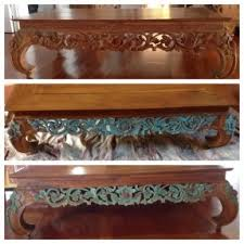 chalk paint on a balinese coffee table chalk paint coffee table