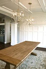 farm table lighting judges panelling wallpaper and flat back ceiling all breakfast table lighting