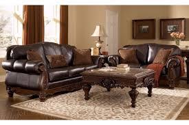 furniture t north shore:  north shore dark brown  pc living room set shown w casa mollino shore