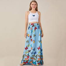 New Style Women Fashion Long Length Butterfly Printed ... - Vova