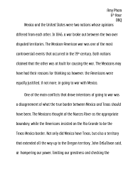 mexican american war essay writing dbq was the united states justified in going to war