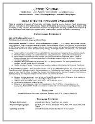 program manager resume exampleprogram manager