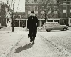 program  iculars  einstein    s ethics   on beingalbert einstein walking on the campus of princeton university   photo  the hannah fantova collection  princeton university