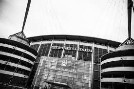 <b>Manchester City</b> Etihad Stadium, <b>Black & White</b> Photographic Print ...