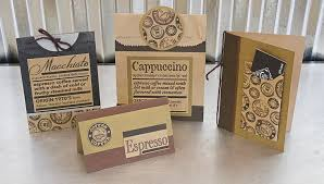 canvas home basics introduces solid printed card stock canvas project idea 3 diy coffee gift cards