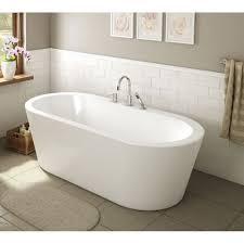 ae bath and shower una  inch acrylic oval freestanding bathtub