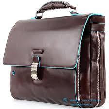 <b>Портфель</b> Piquadro <b>CA3111B2</b>/<b>MO Blue Square</b> коричневый ...