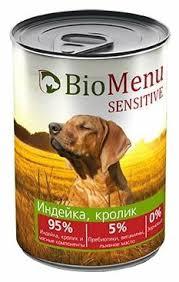 Корм для собак <b>BioMenu</b> (0.41 кг) 1 шт. <b>Sensitive консервы</b> для ...