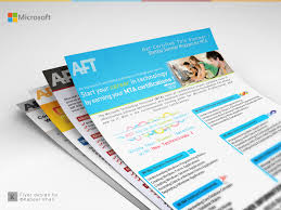 flyer design microsoft courses on behance flyer design for microsoft certification courses short it corporate training s