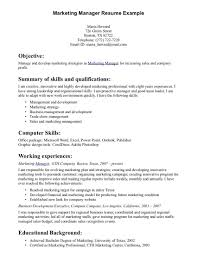 s management resume samples cipanewsletter objective for resume for s management