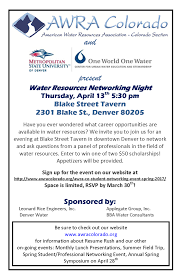 water resources networking night colorado groundwater association