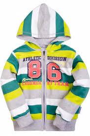 <b>Толстовка</b> для мальчика <b>Bonito</b> Цвет: зеленый,белый,серый ...