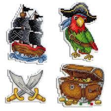 Современная <b>Вышивка</b> Крестом, Пластиковый Холст, Пираты ...