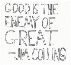 good to great a law enforcement leadership interpretation thin good is the enemy of great