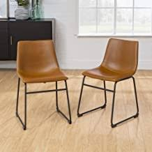 faux leather dining chair - Amazon.com