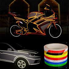 8 Meter Car Styling <b>Reflective</b> Stripe Tape <b>Motorcycle Bike Body</b> ...
