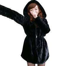 Distributors of Discount Black Faux Fur <b>Hooded Jacket</b> | Women ...