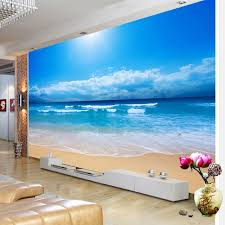 <b>Custom 3D</b> Photo Wallpaper <b>Sea View</b> Wall Painting Living Room ...